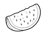 Desenho de O pedaço de melancia para colorear