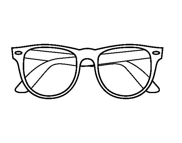 Desenho De Óculos De Sol Para Colorir