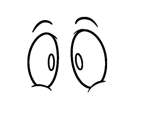 Desenho de Olhos humanos para Colorir