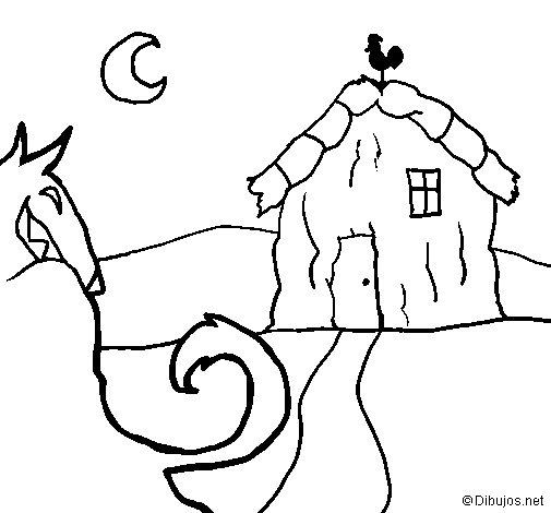 Desenho de Os três porquinhos 6 para Colorir