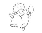 Desenho de Ovelha de Páscoa para colorear