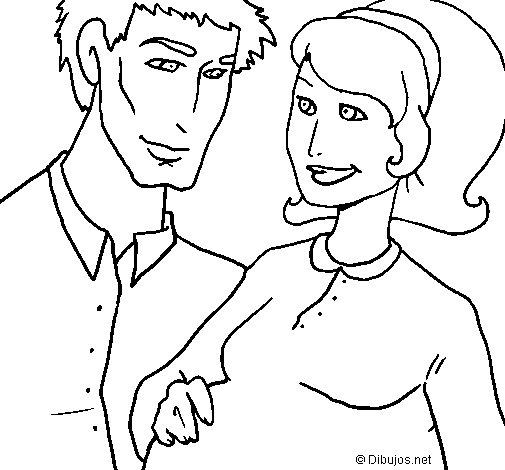 Desenho de Pai e mãe para Colorir