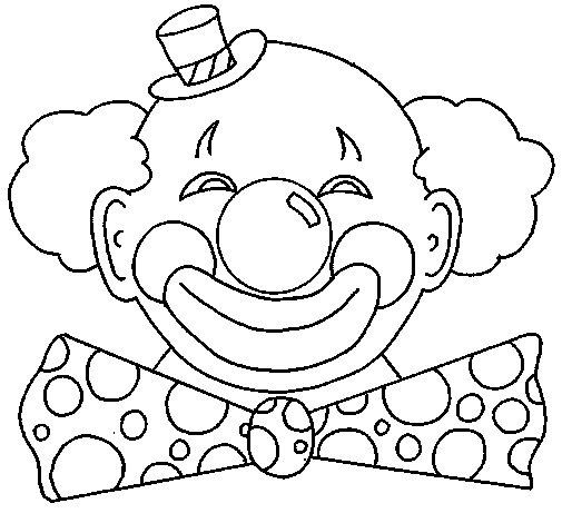 Desenho de Palhaço com um grande sorriso para Colorir
