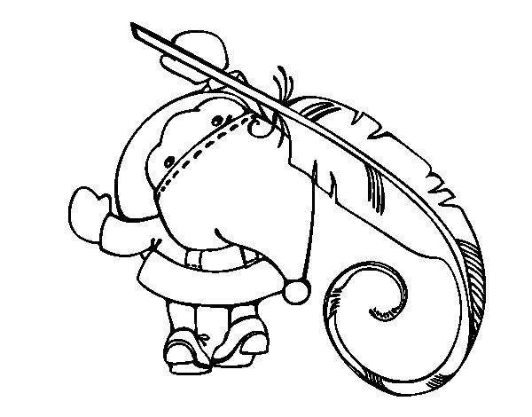 Desenho De Papai Noel Escrito Para Colorir