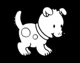 Desenho de Pequeno cachorro para colorear