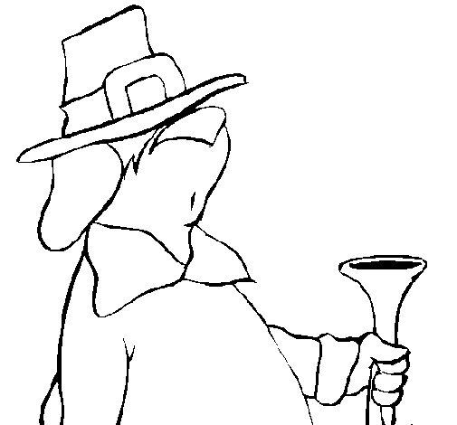 Desenho de Peregrino vagaroso para Colorir