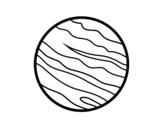 Desenho de Planeta Júpiter para colorear