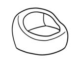 Desenho de Poltrona rodada para colorear