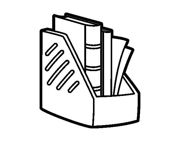 Desenho de Porta-revistas para Colorir