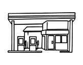 Desenho de Posto de abastecimento para colorear