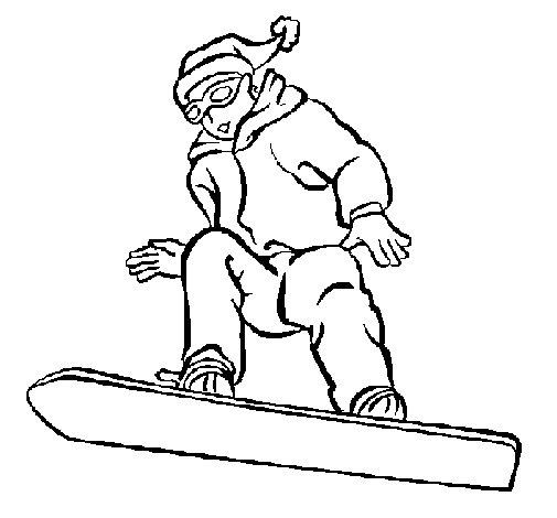 Desenho de Prancha de neve para Colorir