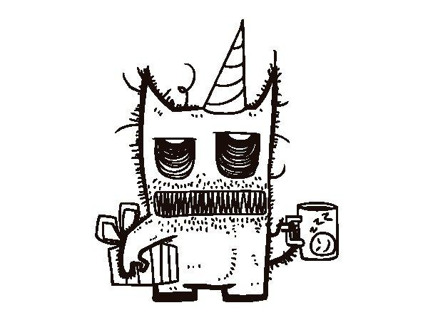 Desenho de Presentes de aniversário Monstro para Colorir