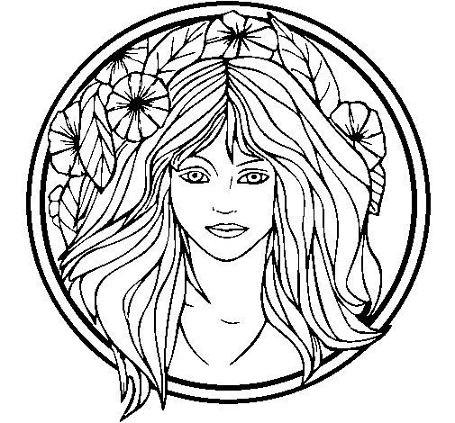 Desenho de Princesa do bosque 2 para Colorir