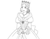 Desenho de Princesa medieval para colorear