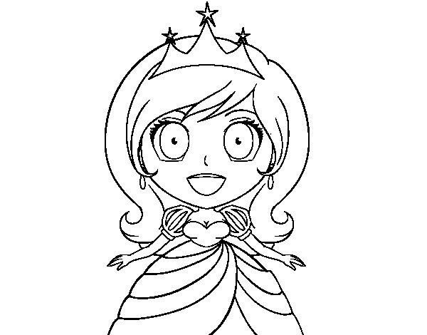 Desenho De Princesa Surpreendida Para Colorir