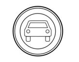 Desenho de proibida, exceto motocicletas entrada de veículos de duas rodas sem carro lateral para colorear