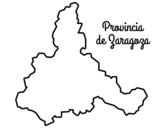 Desenho de Província de Zaragoza para colorear