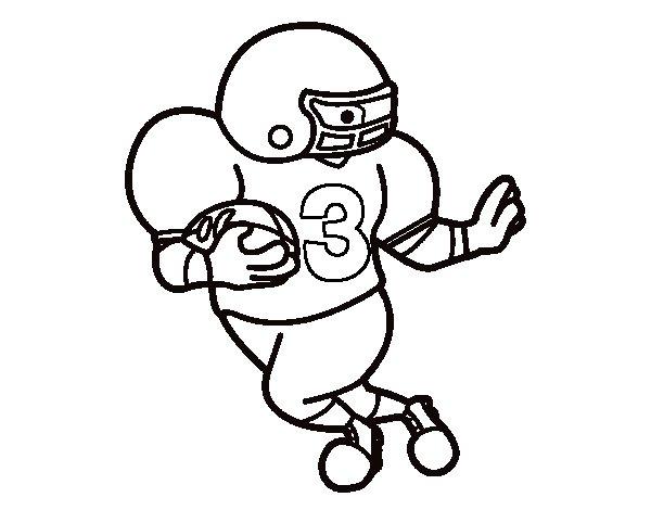 Desenho de Quarterback para Colorir