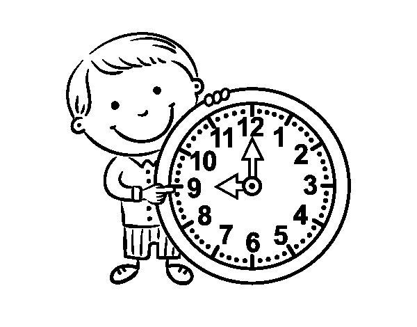 Desenho de Que horas são para Colorir
