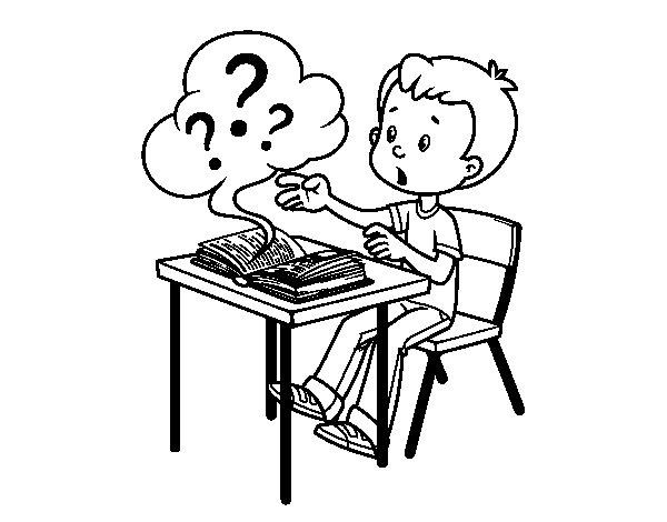 Desenho de Questões escolares para Colorir