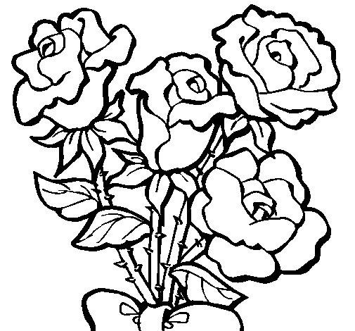 Desenho de Ramo de rosas para Colorir