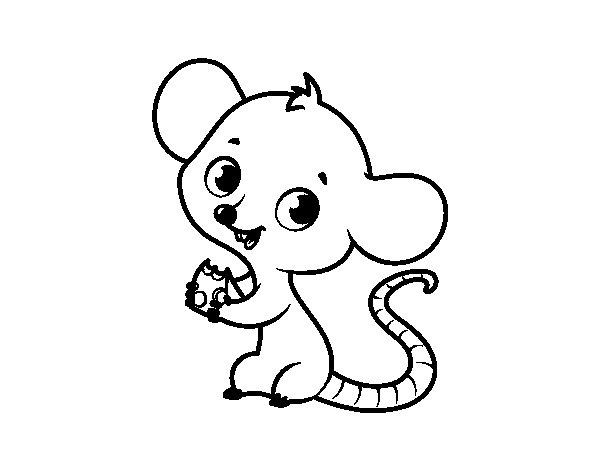 Desenho De Rato Bebê Para Colorir