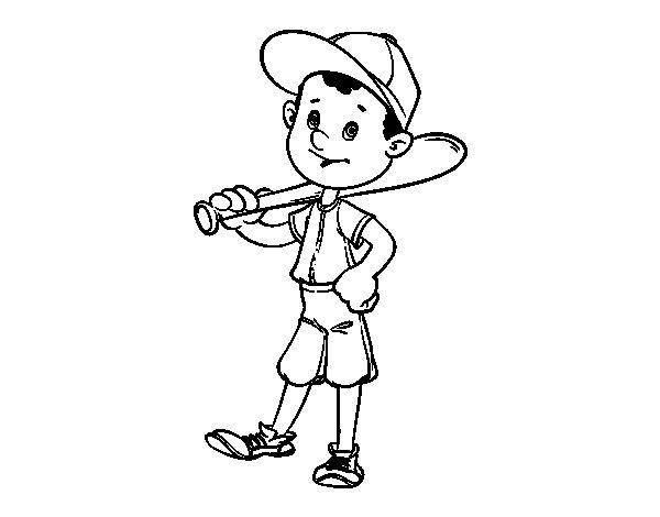 Desenho de Rebatedor do basebol para Colorir
