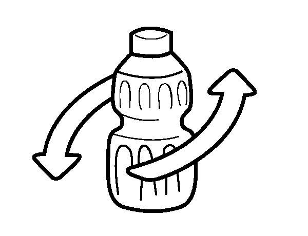 Desenho de Reciclar embalagem para Colorir
