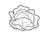 Desenho de Repolho ecológico para colorear
