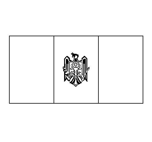 Desenho de República da Moldávia para Colorir