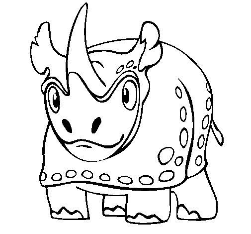 Desenho de Rinoceronte 4 para Colorir