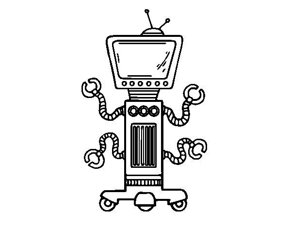Desenho de Robô mecânico para Colorir