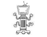 Desenho de Robô mecânico para colorear