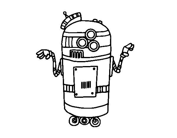 Desenho de Robot en serviço para Colorir