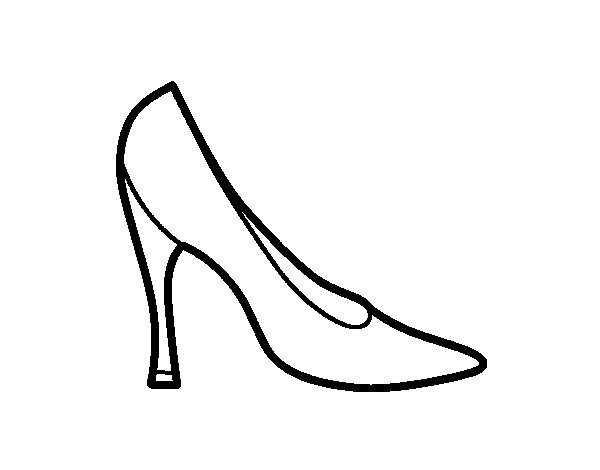 Desenho de Sapato de salto alto para Colorir