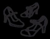 Desenho de Sapatos lounges para colorear