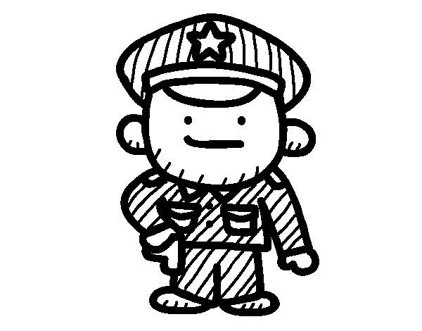 Desenho de Sargento para Colorir