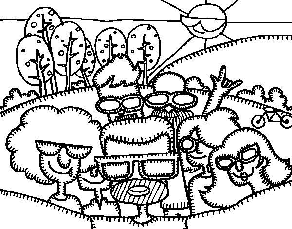 Desenho de Selfie para Colorir