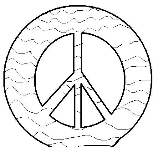 Desenho de Símbolo da paz para Colorir