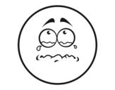 Desenho de Smiley Choroso  para colorear