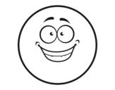 Desenho de Smiley feliz para colorear