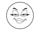 Desenho de Smiley mala  para colorear