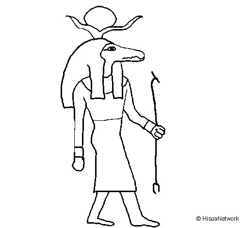 Desenho de Sobek II para Colorir