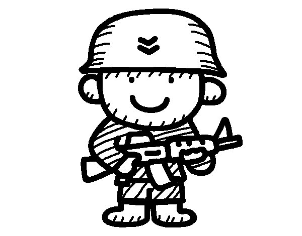 Desenho de Soldado para Colorir