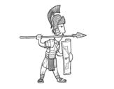 Dibujo de Soldado romano em defesa