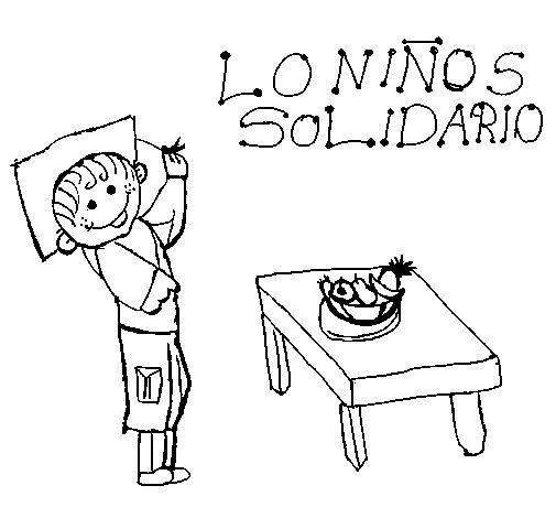Desenho de Solidariedade para Colorir