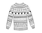 Desenho de Suéter de lã impressa para colorear