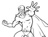 Desenho de Super-herói mascarado para colorear