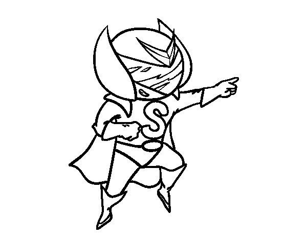 Desenho de Súper S para Colorir