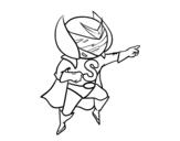 Desenho de Súper S para colorear